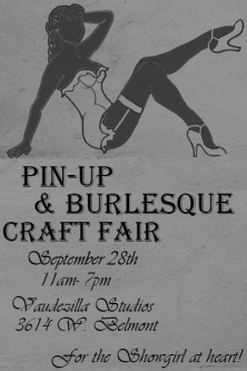 Burlesque Craft Fair Poster