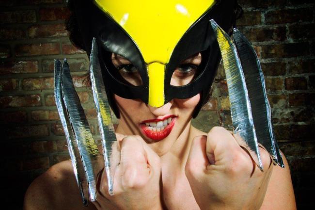 Marie Curieosity as Wolverine