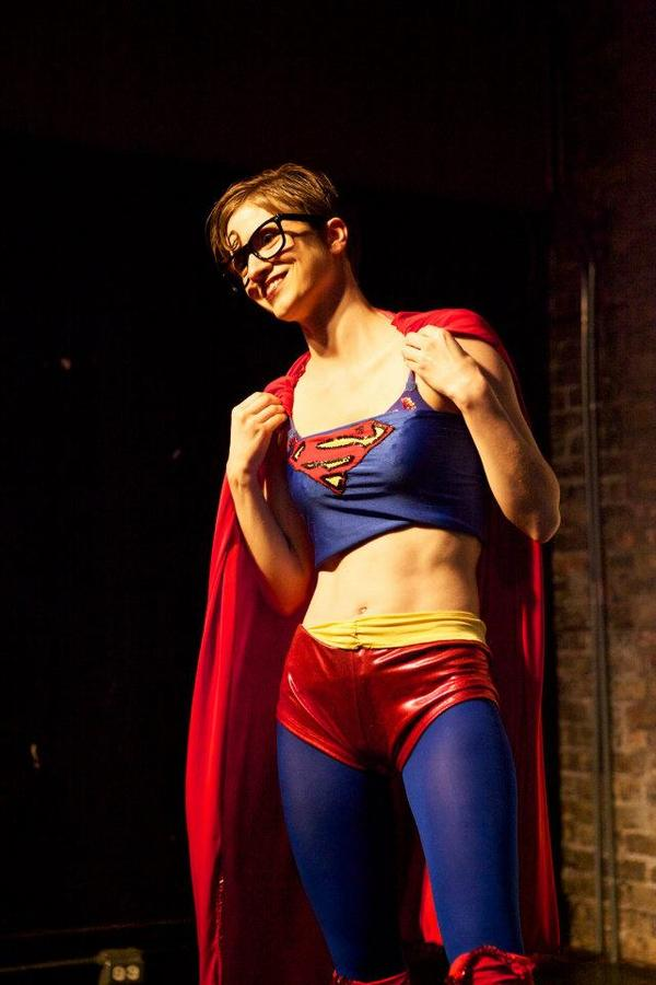 Slightly Spitfire in Superboobs as Clark Kent
